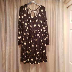 TORRID DAISY PRINT DRAW STRING WAIST DRESS